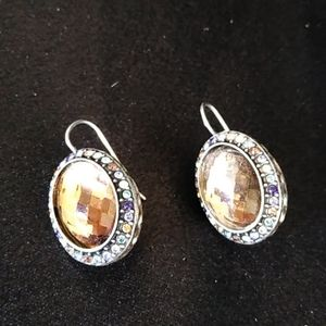 Jewelry - Topaz and Crystal gratitude earrings
